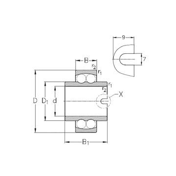 1308-K-TVH-C3 Ball Bearing Self Aligning